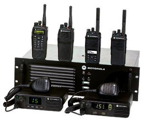 Picture of DMR radios and repeater